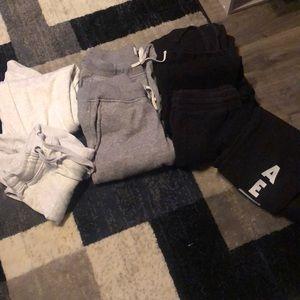 Men's sizes Small sweatpants (8 pairs)